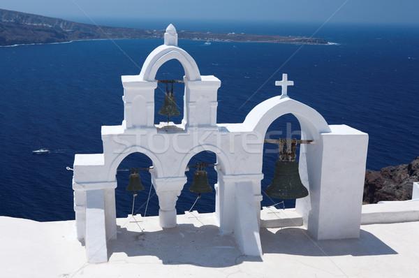 Santorini meraviglioso view città edifici Grecia Foto d'archivio © dash