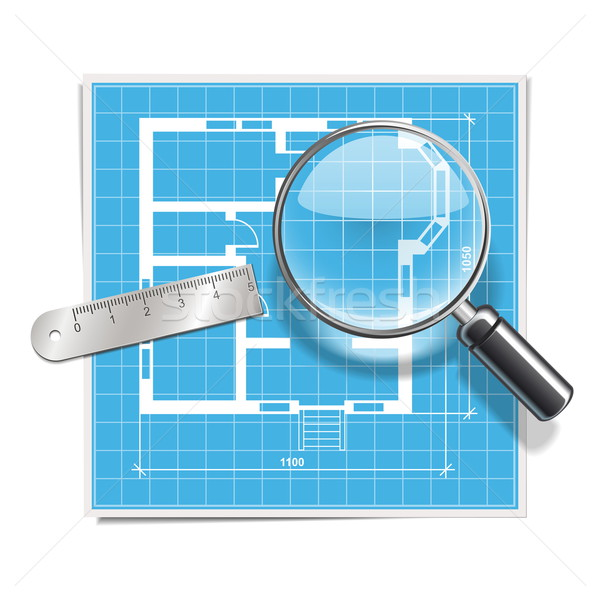 Vector Layout with Lens Stock photo © dashadima