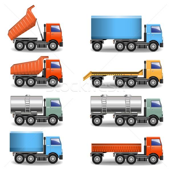 Vector Truck Icons Stock photo © dashadima