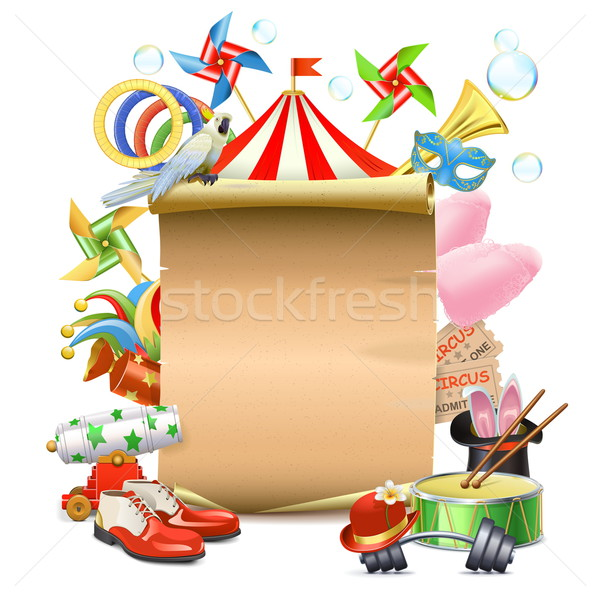 Vector Circus Concept with Poster Stock photo © dashadima
