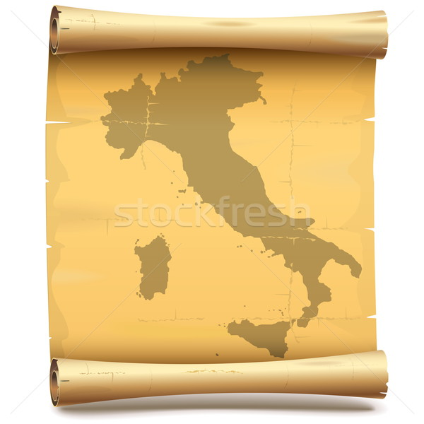 Vector Paper Scroll with Italy Stock photo © dashadima