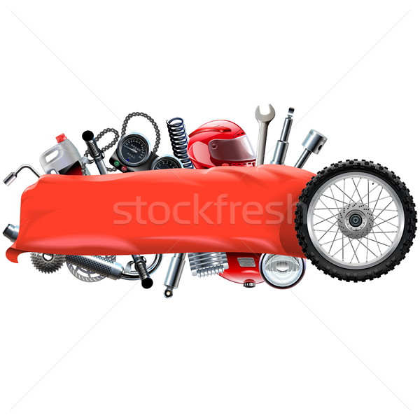 Vector Banner with Motorcycle Spares Stock photo © dashadima