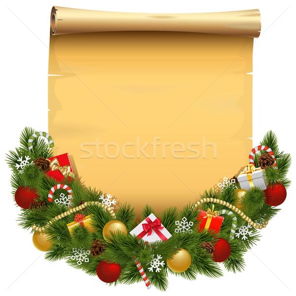 вектора Рождества украшение выделите изолированный белый Сток-фото © dashadima