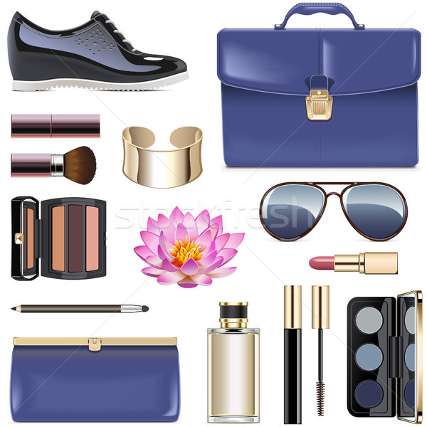 Vector Dark Blue Female Accessories Stock photo © dashadima