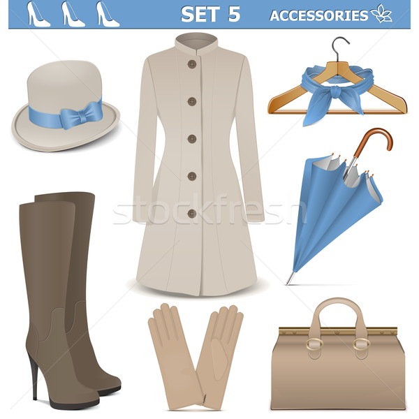 Vector Female Accessories Set 5 Stock photo © dashadima