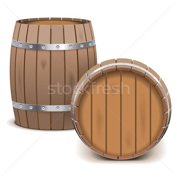 вектора изолированный белый древесины алкоголя меда Сток-фото © dashadima