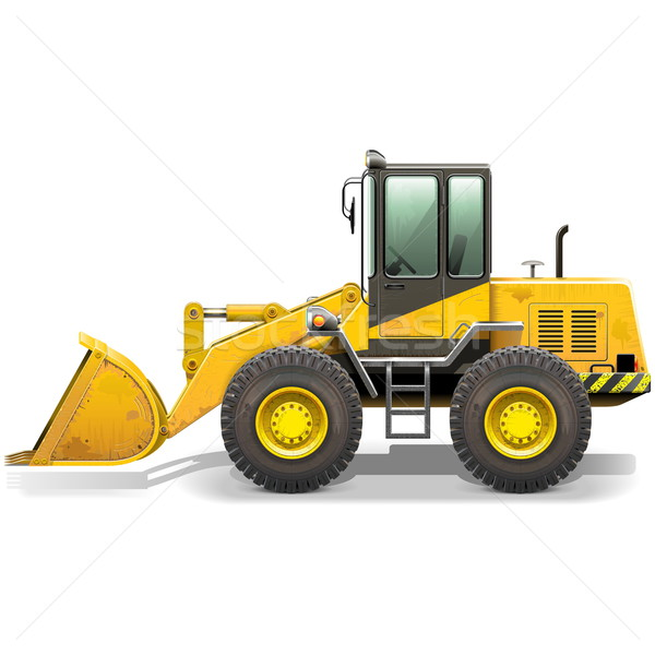 Vector Old Bulldozer Stock photo © dashadima