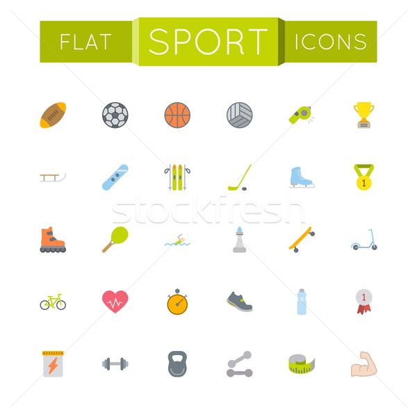 Vector Flat Sport Icons Stock photo © dashadima