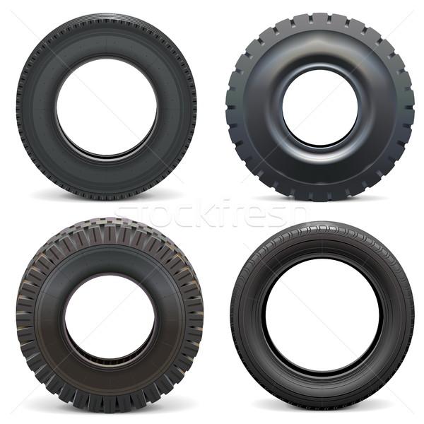 Vector Rubber Tires Stock photo © dashadima