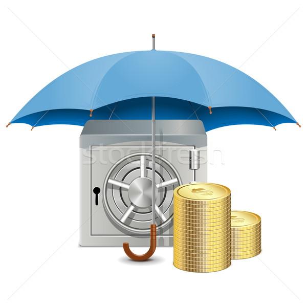 Vector Umbrella and Safe Stock photo © dashadima