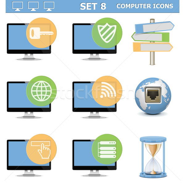 Vector Computer Icons Set 8 Stock photo © dashadima