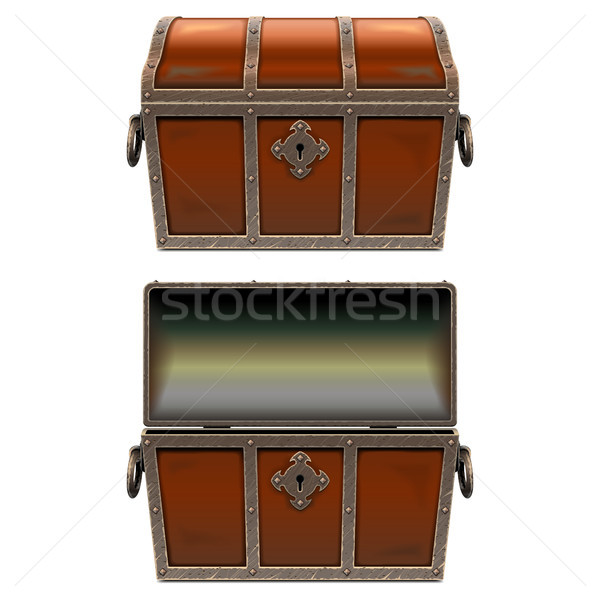 Vector Old Fairy Chest Stock photo © dashadima