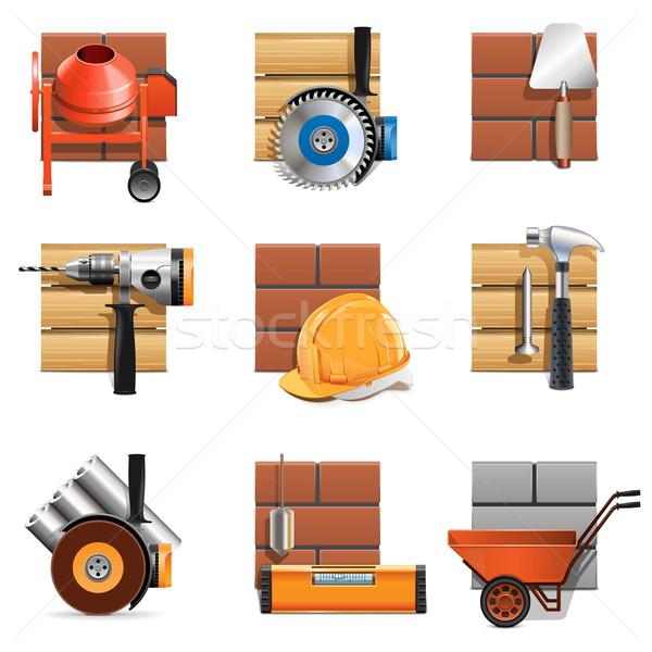 Vector Construction Work Icons Stock photo © dashadima