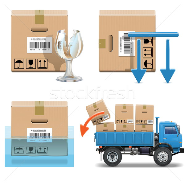 Vector Shipment Icons Set 31 Stock photo © dashadima
