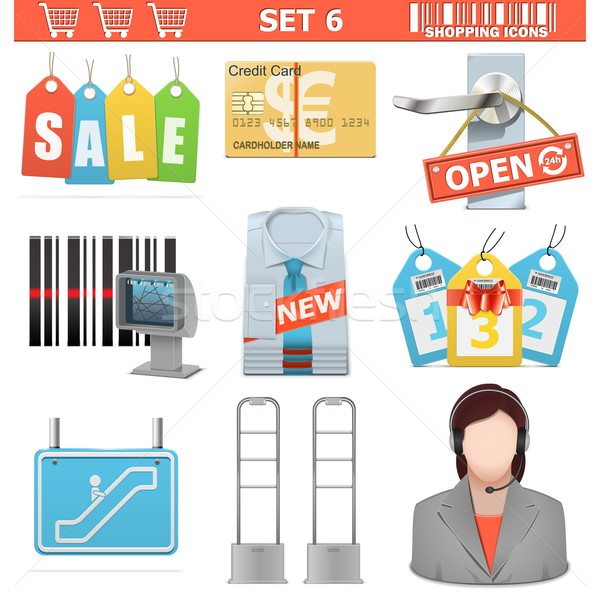 Vector Shopping  Icons Set 6 Stock photo © dashadima