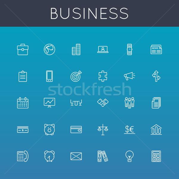 Vector Business Line Icons Stock photo © dashadima