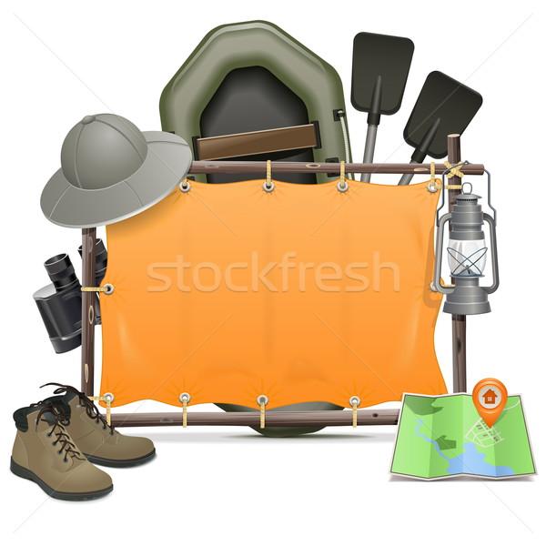 Vector Camping Frame Stock photo © dashadima
