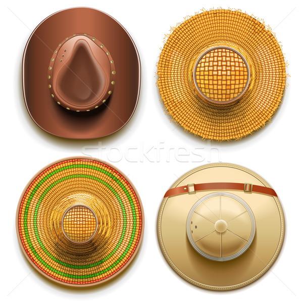 Vector Hats Set Stock photo © dashadima