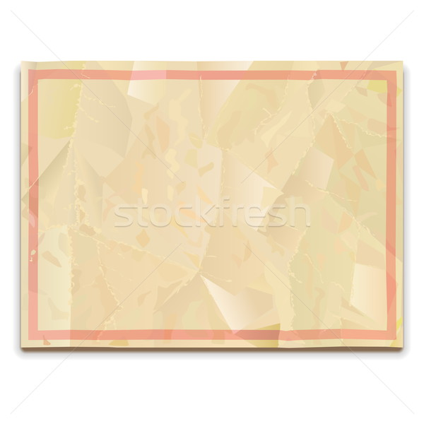 Vector Old Paper Blank Stock photo © dashadima
