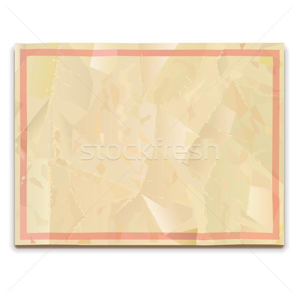 Vettore vecchia carta isolato bianco carta texture Foto d'archivio © dashadima