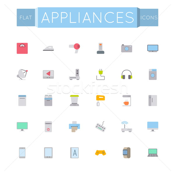 Vector Flat Appliances Icons Stock photo © dashadima