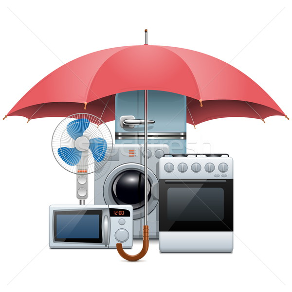 Stock photo: Vector Household Appliances Protection