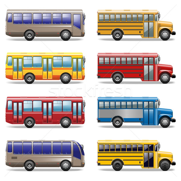 Vector bus icons Stock photo © dashadima