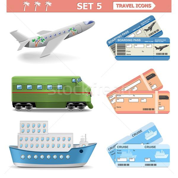 Vector Travel Icons Set 5 Stock photo © dashadima