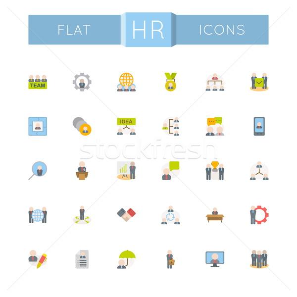 Vector Flat HR Icons Stock photo © dashadima