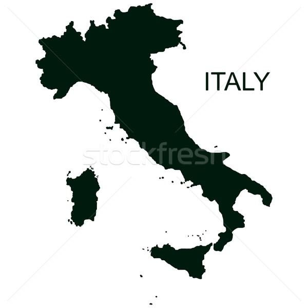 Vector Italië pictogram geïsoleerd witte kaart Stockfoto © dashadima