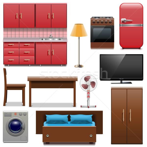 Vector Furniture Icons Stock photo © dashadima