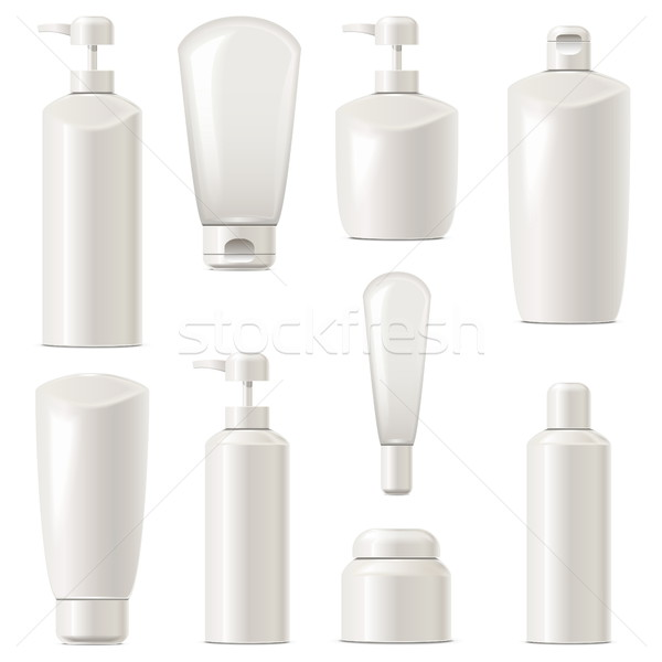 Vector Cosmetic Packaging Icons Set 7 Stock photo © dashadima