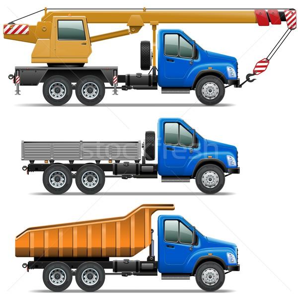 Vector Lorry Icons Set 3 Stock photo © dashadima