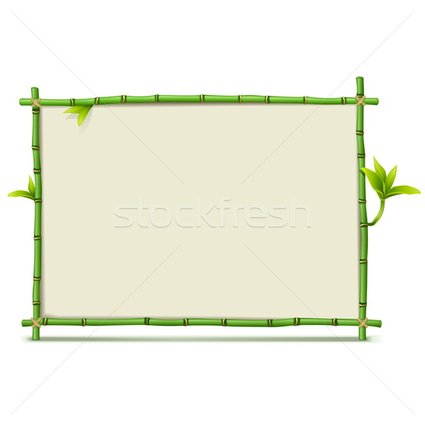 Vector Green Bamboo Frame Stock photo © dashadima