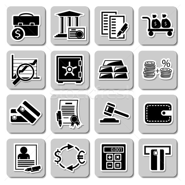 Vector set of banking icons Stock photo © dashadima