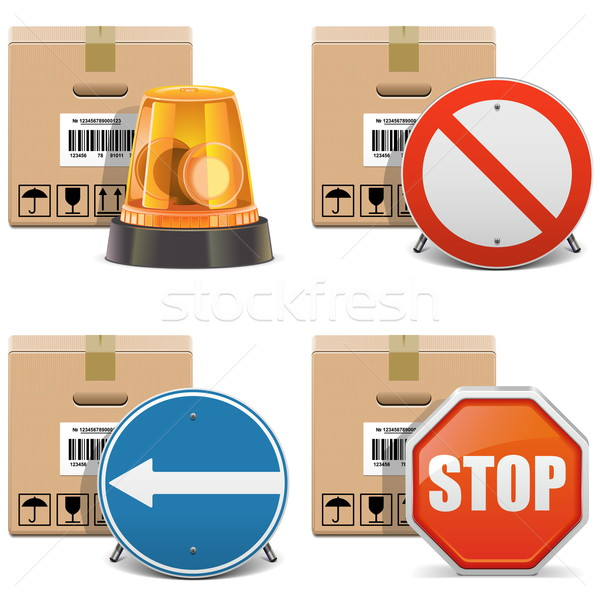 Vector Shipment Icons Set 24 Stock photo © dashadima