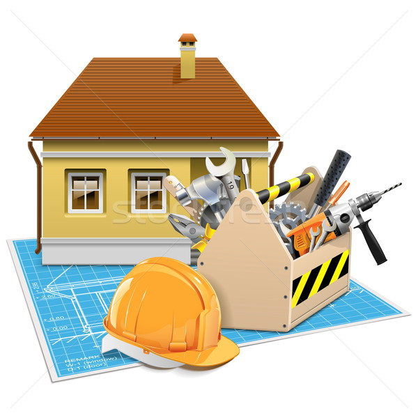 Stock photo: Vector House Repair Project