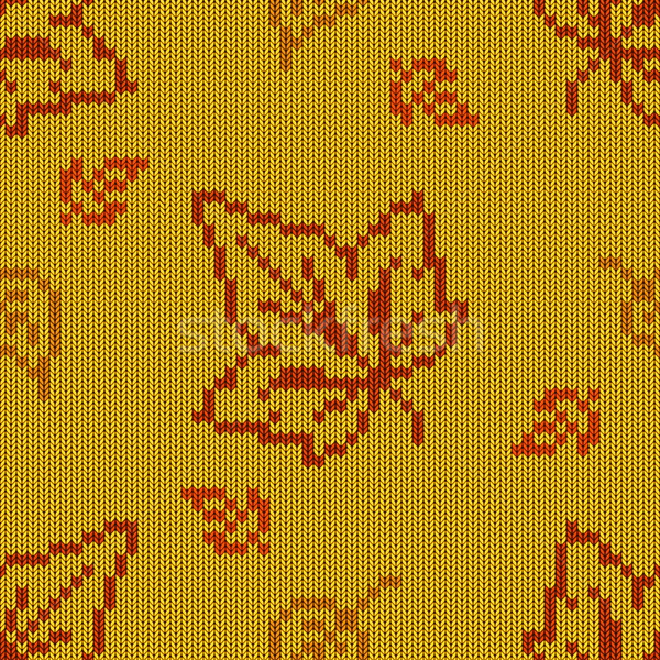 Vector Autumn Knitted Pattern 2 Stock photo © dashadima