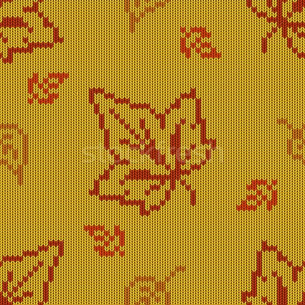 Vettore autunno maglia pattern design foglia Foto d'archivio © dashadima