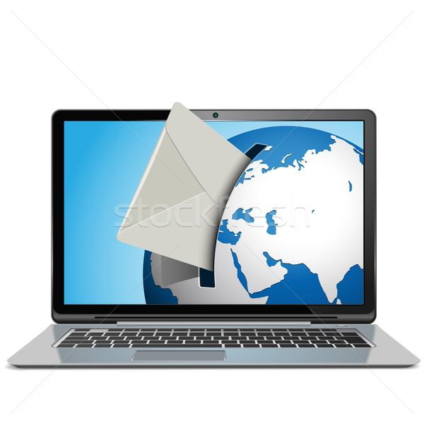 Vector mail notebook geïsoleerd witte computer Stockfoto © dashadima