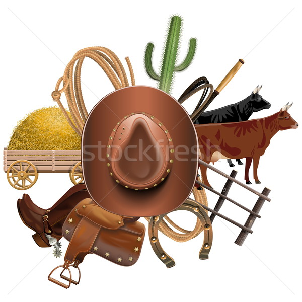 Vector Cowboy Ranch Concept Stock photo © dashadima