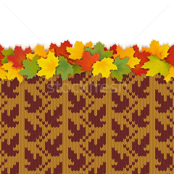 вектора клен листьев осень трикотажный шаблон Сток-фото © dashadima