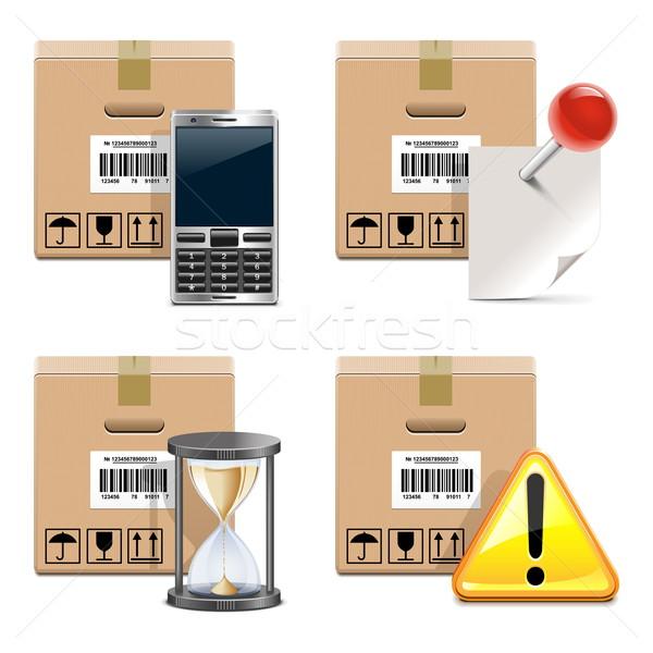 Vector Shipment Icons Set 14 Stock photo © dashadima