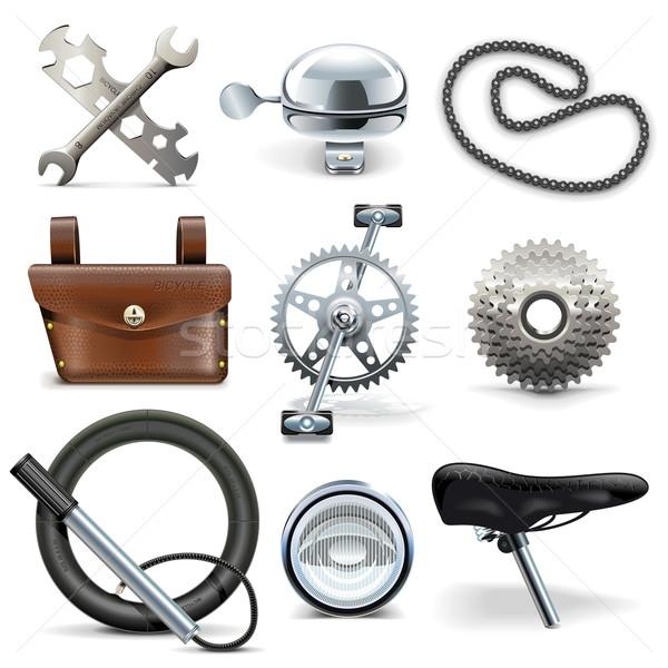 Vector Bicycle Icons Stock photo © dashadima