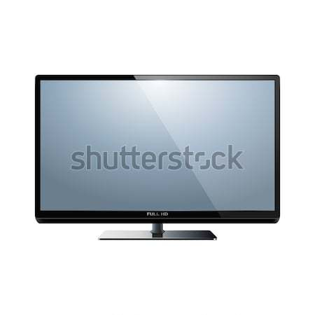Vector hd tv geïsoleerd witte model Stockfoto © dashadima