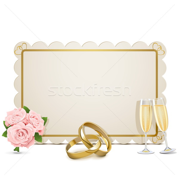 Vector Wedding Frame Stock photo © dashadima