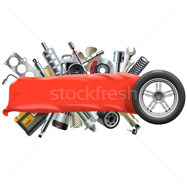 Vector Banner with Car Spares Stock photo © dashadima