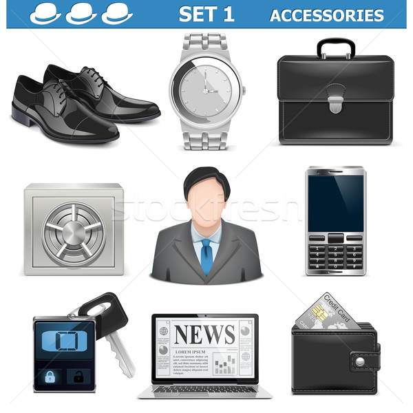 Vector Male Accessories Set 1 Stock photo © dashadima