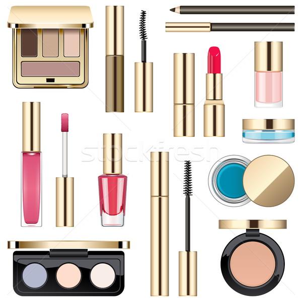 Vector Makeup Icons Stock photo © dashadima