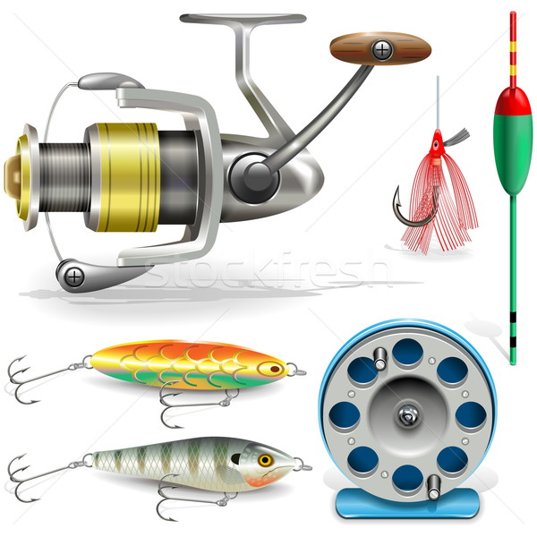 Vector Fishing Tackle Stock photo © dashadima
